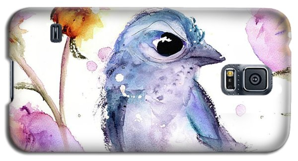 Galaxy S5 Case featuring the painting Scrub Jay In The Wildflowers by Dawn Derman