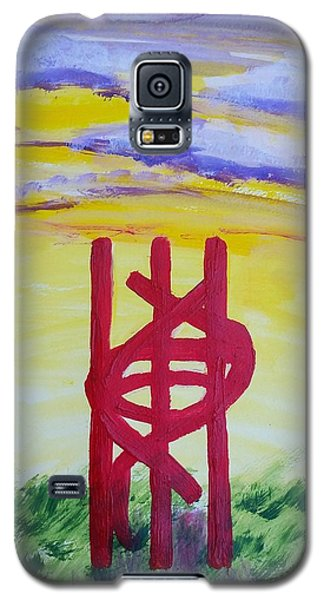 Galaxy S5 Case featuring the painting Sculpture Park by Carol Duarte