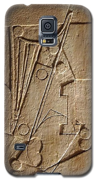 Sculptured Panel - Influenced By Picasso's Painting Having The Number 1 Galaxy S5 Case