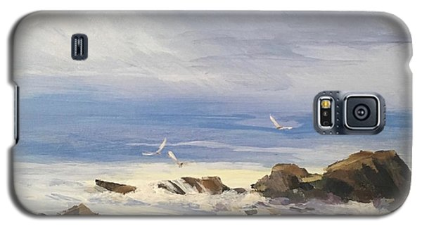 Galaxy S5 Case featuring the painting Sea Breeze by Helen Harris