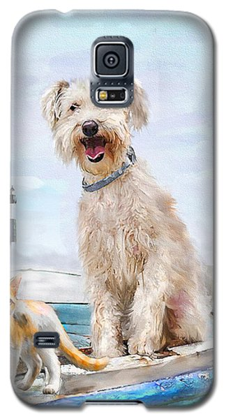 Sea Dog And Cat Galaxy S5 Case by Jane Schnetlage