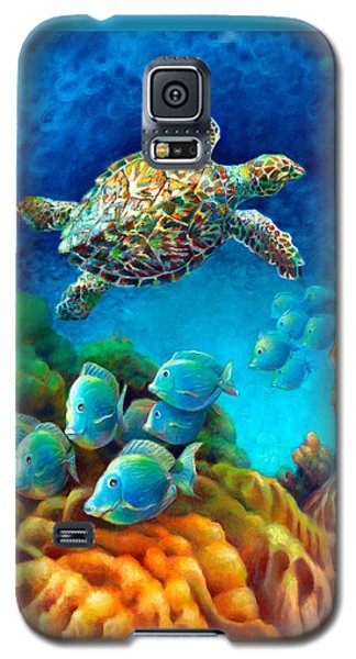 Sea Escape IIi - Gemstone Hawksbill Turtle Galaxy S5 Case