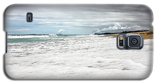 Galaxy S5 Case featuring the photograph Sea Foam And Clouds By Kaye Menner by Kaye Menner