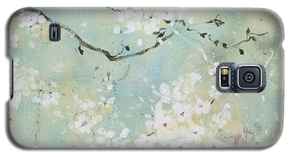 Galaxy S5 Case featuring the painting Sea Foam by Laura Lee Zanghetti