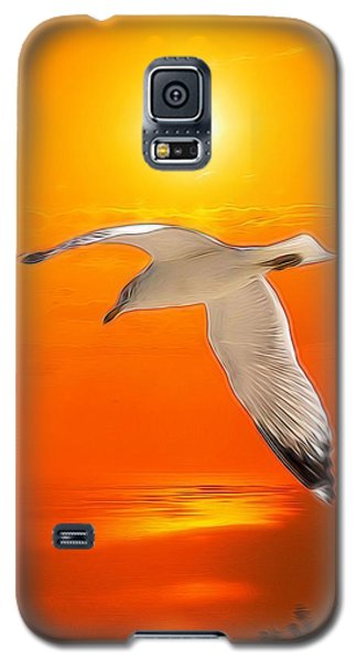 Galaxy S5 Case featuring the photograph Sea Gull by Athala Carole Bruckner