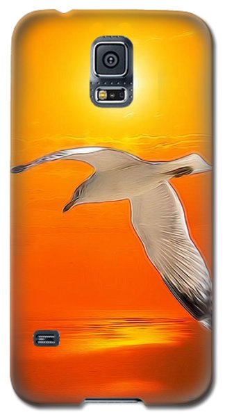 Sea Gull Galaxy S5 Case by Athala Carole Bruckner