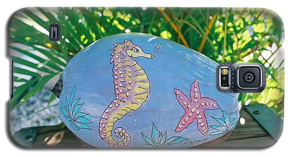 Galaxy S5 Case featuring the mixed media Sea Life by Nancy Taylor