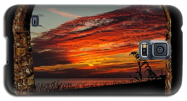 Sea Oats And Sunset Galaxy S5 Case by TK Goforth