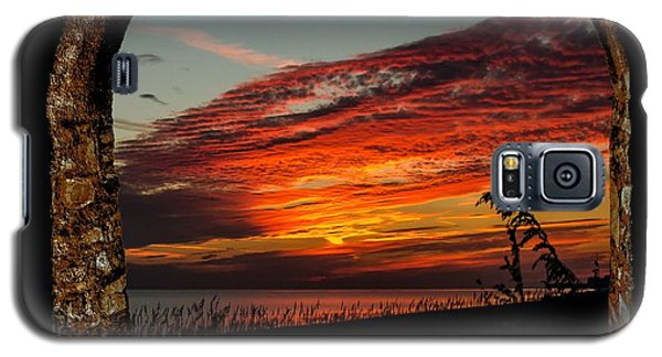 Sea Oats And Sunset Galaxy S5 Case