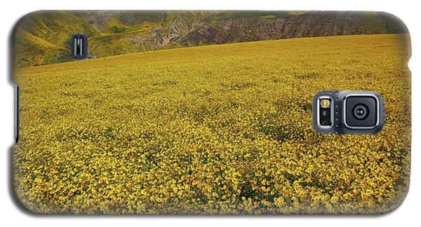 Galaxy S5 Case featuring the photograph Sea Of Yellow Up In The Temblor Range At Carrizo Plain National Monument by Jetson Nguyen