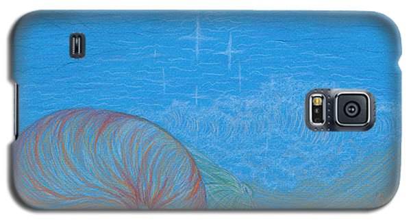 Galaxy S5 Case featuring the drawing Sea Shore by Kim Sy Ok