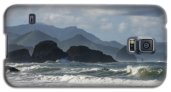 Sea Stacks And Surf Galaxy S5 Case