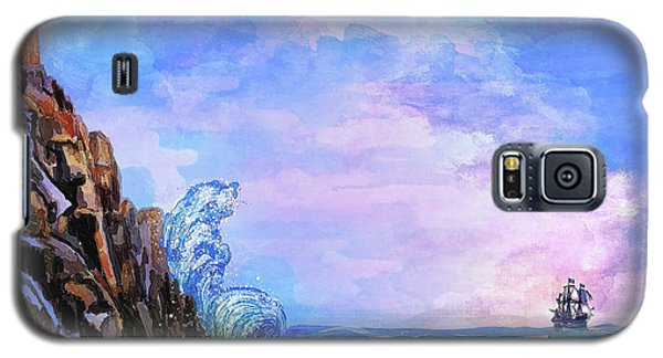 Galaxy S5 Case featuring the painting Sea Stories 2  by Andrzej Szczerski