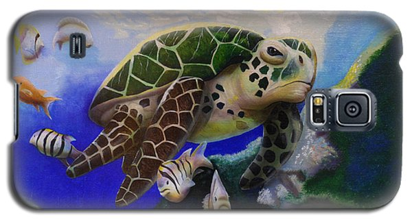 Sea Turtle Acrylic Painting Galaxy S5 Case