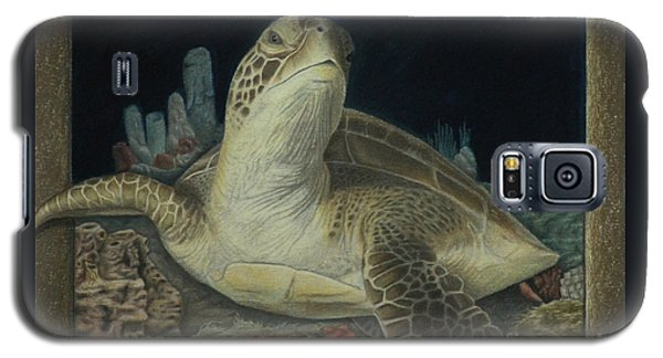 Galaxy S5 Case featuring the painting Sea Turtle by Jennifer Watson