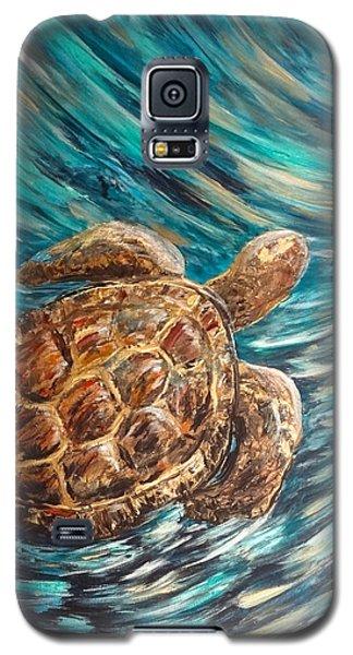 Sea Turtle Wave Guam Galaxy S5 Case