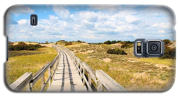 Galaxy S5 Case featuring the photograph Seabound Boardwalk by Debbie Stahre