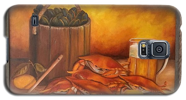 Galaxy S5 Case featuring the painting Seafood Night by Susan Dehlinger