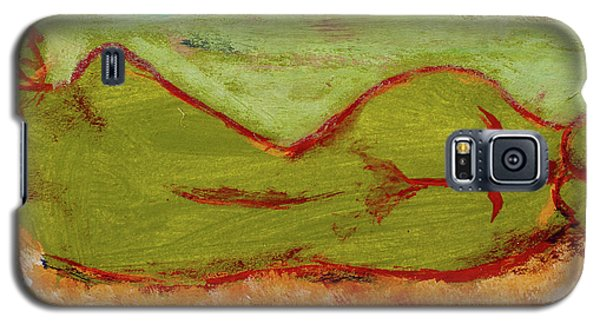 Galaxy S5 Case featuring the painting Seagirlscape by Paul McKey