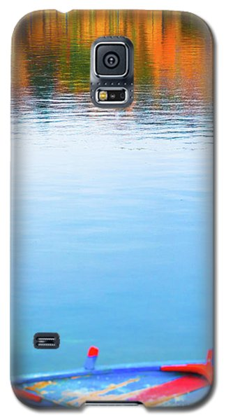 Galaxy S5 Case featuring the photograph Seagull And Boat by Silvia Ganora