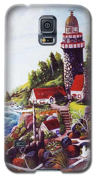 Seagull Cove And Lighthouse Galaxy S5 Case