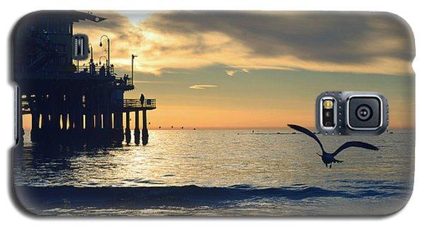 Seagull Pier Sunrise Seascape C2 Galaxy S5 Case