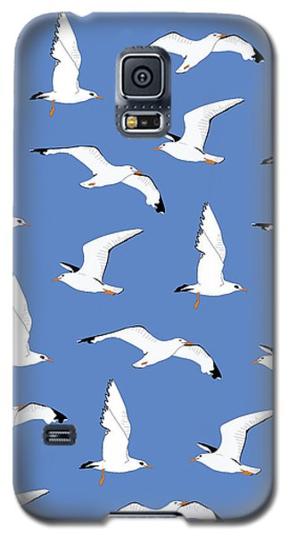 Seagulls Gathering At The Cricket Galaxy S5 Case by Elizabeth Tuck