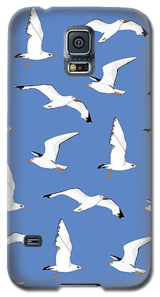 Seagull Galaxy S5 Case - Seagulls Gathering At The Cricket by Elizabeth Tuck