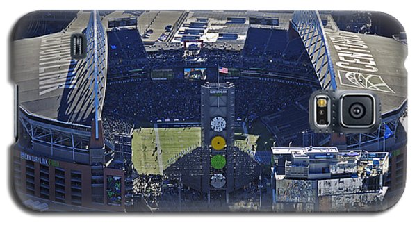 Galaxy S5 Case featuring the photograph Seahawk Stadium by Jack Moskovita