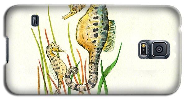 Seahorse Mom And Baby Galaxy S5 Case by Juan Bosco