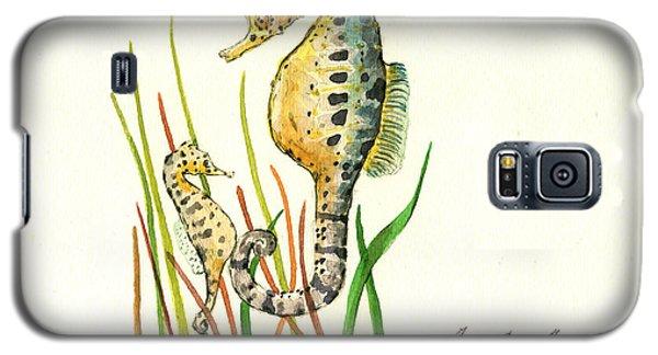 Seahorse Mom And Baby Galaxy S5 Case