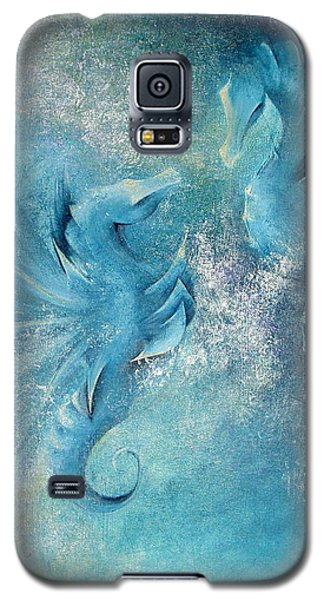 Galaxy S5 Case featuring the painting Seahorses In Love 1 by Dina Dargo