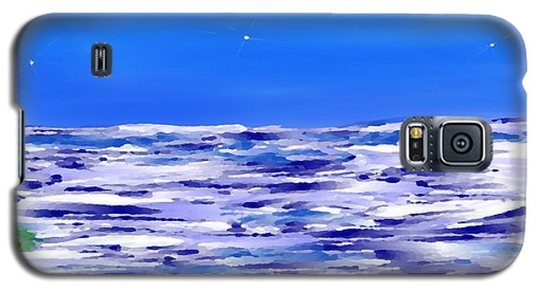 Galaxy S5 Case featuring the digital art Sea.moon Light by Dr Loifer Vladimir