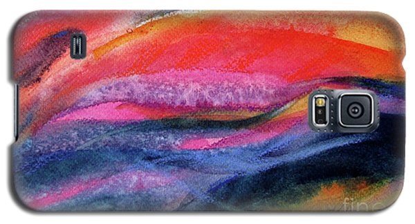 Galaxy S5 Case featuring the painting Seams Of Color by Kathy Braud