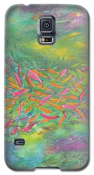Galaxy S5 Case featuring the painting Searching by Lyn Olsen