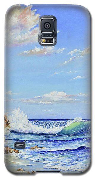Galaxy S5 Case featuring the painting Seascape Beach by Mary Scott