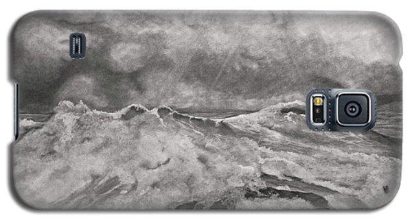 Galaxy S5 Case featuring the drawing Seascape In Graphite by John Stuart Webbstock