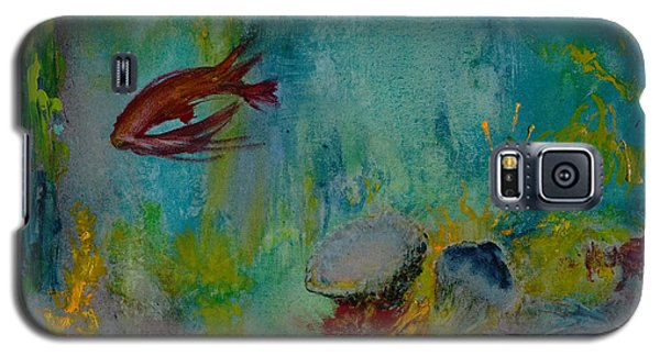 Galaxy S5 Case featuring the painting Seascape by Karen Fleschler