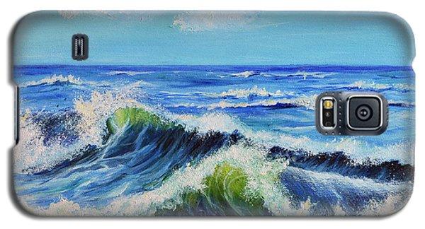 Galaxy S5 Case featuring the painting Seascape No.3 by Teresa Wegrzyn