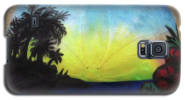 Seascape On A Sand Dollar Galaxy S5 Case by Mary Ellen Frazee
