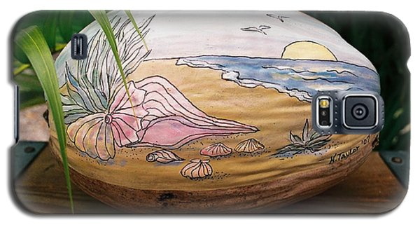 Galaxy S5 Case featuring the mixed media Seashore by Nancy Taylor
