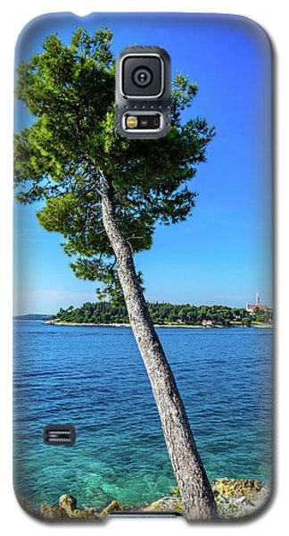 Seaside Leaning Tree In Rovinj, Croatia Galaxy S5 Case