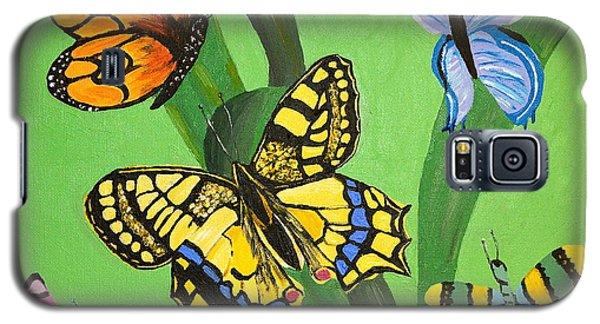 Galaxy S5 Case featuring the painting Season Of Butterflies by Donna Blossom