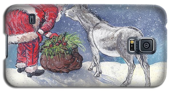 Galaxy S5 Case featuring the painting Season's Greetings by Dawn Senior-Trask