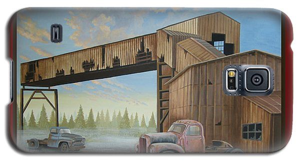 Galaxy S5 Case featuring the painting Season's Greetings Old Mine by Stuart Swartz