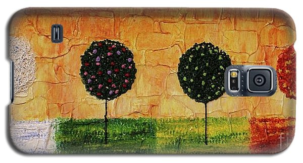 Galaxy S5 Case featuring the painting Seasons Of Love by Jane Chesnut