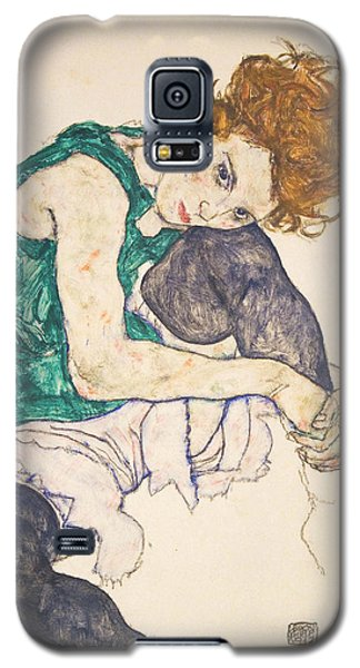 Seated Woman With Legs Drawn Up Galaxy S5 Case
