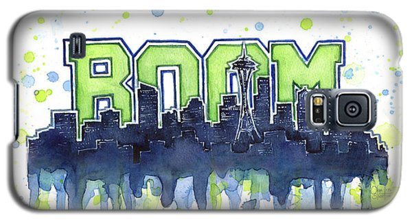 Seattle 12th Man Legion Of Boom Watercolor Galaxy S5 Case by Olga Shvartsur