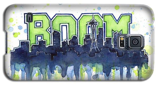 Seattle Galaxy S5 Case - Seattle 12th Man Legion Of Boom Watercolor by Olga Shvartsur