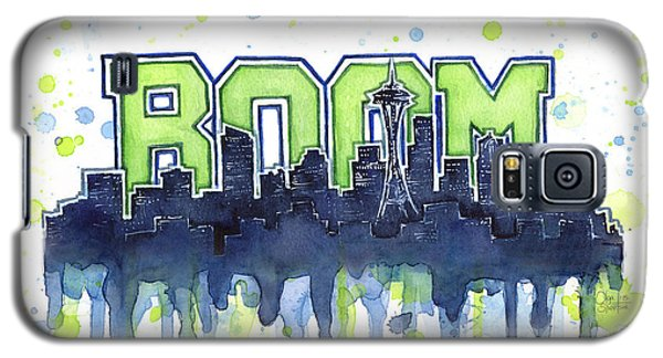 Seattle 12th Man Legion Of Boom Watercolor Galaxy S5 Case
